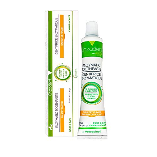 Vetoquinol Enzadent Enzymatic Toothpaste for Cats & Dogs – 3.2 oz, Poultry...