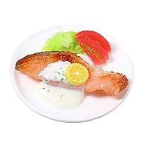 食品サンプル屋さんのマグネット(鮭のムニエル)【食品サンプル ミニチュア 雑貨 食べ物 サーモン 外国 土産 リアル】