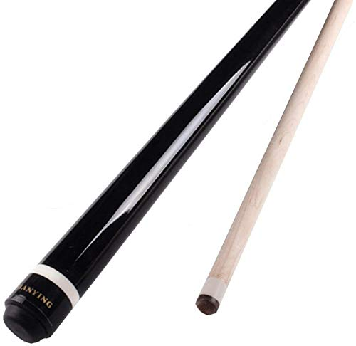 WEHOLY Pool Cue, 48 Inch Maple 1/2 Jointed Billard Rod with 13mm Tip Two Sections Nine-Ball Billiards Pool Cue