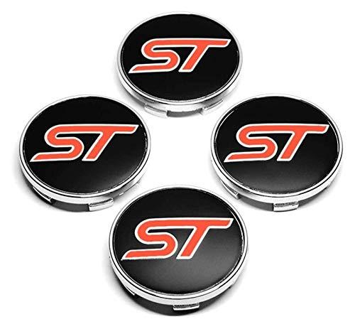 4 piezas de la rueda del automóvil RONE CORTE COP HUB BADGE Pegatina de aluminio para Ford Fusion Everest Escape Explorer Mondeo Focus EcoSport Fiesta Kuga, vehículo Auto Tuning Cover Emblemas, 54 mm