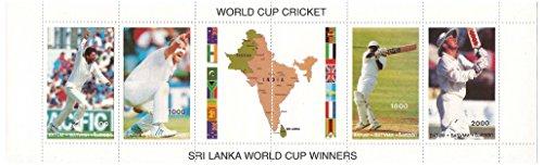 Sri Lanka wereldkampioenschap met 6 postzegels / Batum - Stamps wereldkampioenschap Cricket