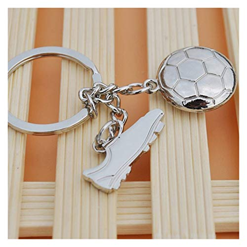 Tderloi Schlüsselbund 3D Sport rotierender Basketball Fußball Fußballtisch Tennis Badminton Golf Keychain Schlüsselanhänger Ring Key FOB Ball Geschenke Für Männer (Color : Flat Football Shoe)
