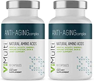 ViMulti Best Natural Amino Acid Anti-Aging Supplement for Longevity (2-pk) – Clinically Proven - Supports Mental Acuity, Immune System, Skin Tone, Endurance & Energy