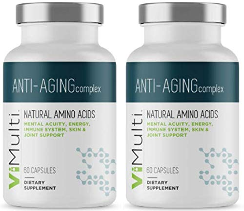 ViMulti Anti-Aging Natural Amino Acid Supplement for Longevity (2-pk) – Supports Immune Health, Increased Energy, Improved Focus, Smoother Skin Tone and Restorative Sleep