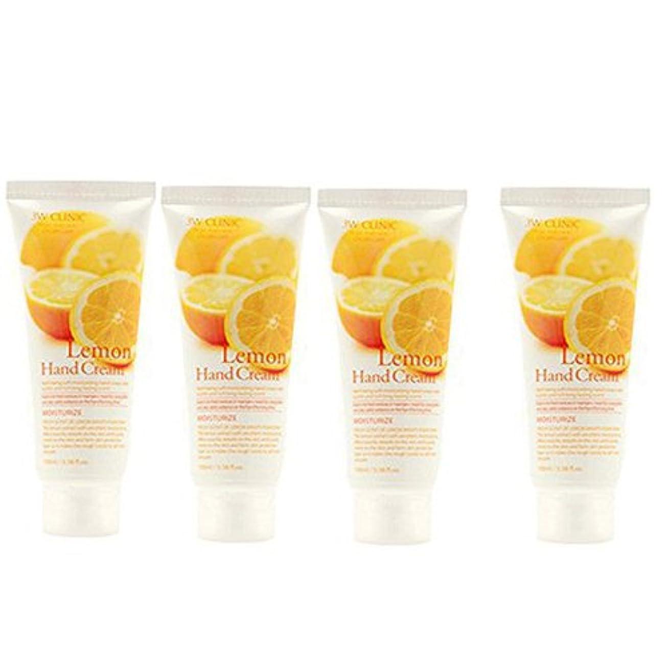 地域のスタック先入観3w Clinic[韓国コスメARRAHAN]Moisturizing Lemon Hand Cream モイスチャーリングレモンハンドクリーム100mlX4個 [並行輸入品]