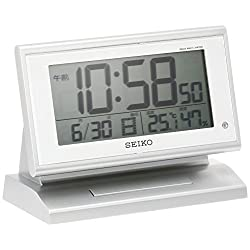 SEIKO CLOCK ( Seiko clock ) automatic lights radio digital alarm clock ( silver ) SQ768S
