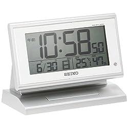 SEIKO CLOCK ( Seiko clock ) automatic lights radio digital alarm clock ( silver ) SQ768S