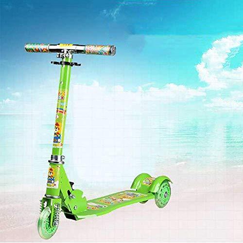 PLLP Patineta Scooter-Scooter plegable para niños Patada con rueda intermitente plegable, Niño...