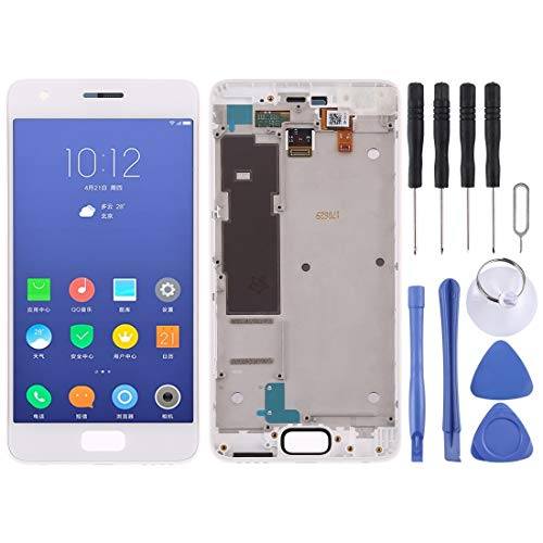 FXH Menos Costo Pantalla LCD y digitalizador Asamblea con Marco Completo for Lenovo ZUK Z2 taizhan (Blanco) Pero una solución efectiva (Color : White)