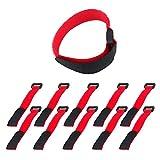 10 Piezas/Set Auto Adhesivo Cable Lazo Alambre Organizador multifunción Reutilizable Reutilizable Cuerda de Correa Cordones de Correa Nylon Sujetador 2 * 20cm (Color: Rosa) TINGG (Color : Red)