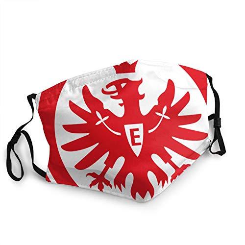 Maske Schutzmaske Gesichtsmasken Waschbar Uk Bundesliga Eintracht Frankfurt Weihnachtsgeschenkmaske für Unisex Männer Frauen Herbst Herbst Atmungsaktiv Mund-Nasen Bedeckung Halstuch Schals Herren Dame