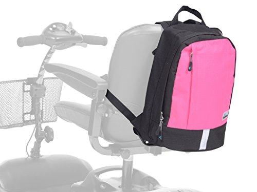 Ability Superstore Mini-Rucksack für Elektromobil, Schwarz und Rosa