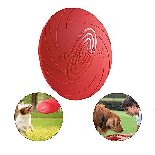 YFOX Frisbee Naturkautschuk Hundespielzeug schwimmend (rot)