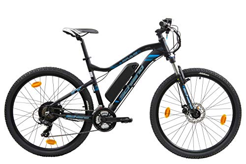 F.lli Schiano Braver, Bicicletta elettrica 27.5 Unisex Adulto, Nero-Blu