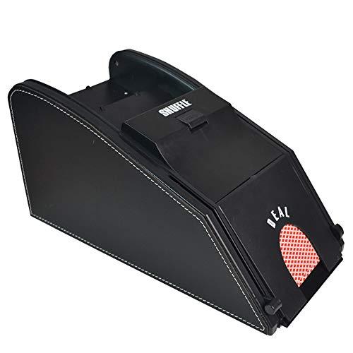 ZJY Card Shuffler, Licensing Machine - Elektronischer Kartenmischer - 2-Deck-Akku oder Gleichstromnetzteil - für die Familienbar Get Together Entertainment