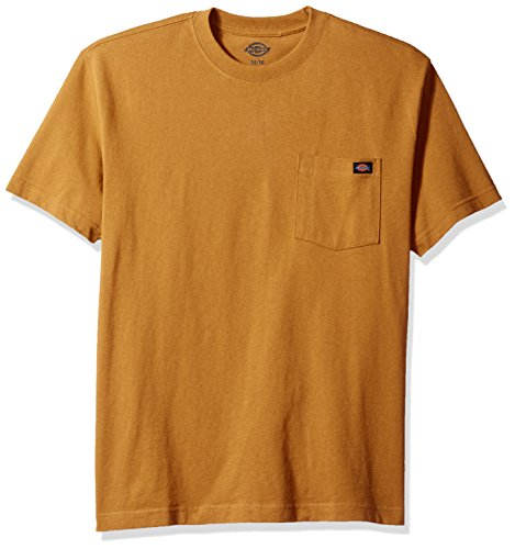 Dickies mens Short Sleeve Heavyweight Crew Neck Pocket T-Shirt,Brown Duck,2X