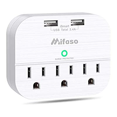 Amazon - Save 28%: 3 Outlet Surge Protector, Multi Plug Outlet Extender with 2 USB Wall Charger (…