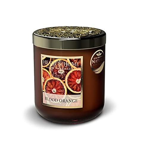 Heart & Home - Vela perfumada pequeña jarra de 115 g, aroma a naranja sanguíneo