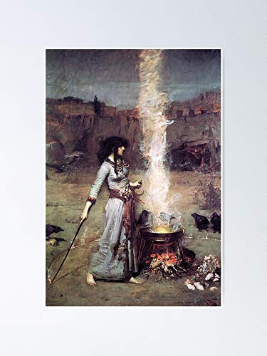 AZSTEEL The Magic Circle Witchcraft J-ohn William Waterhouse Poster Poster 11.7 * 16.5