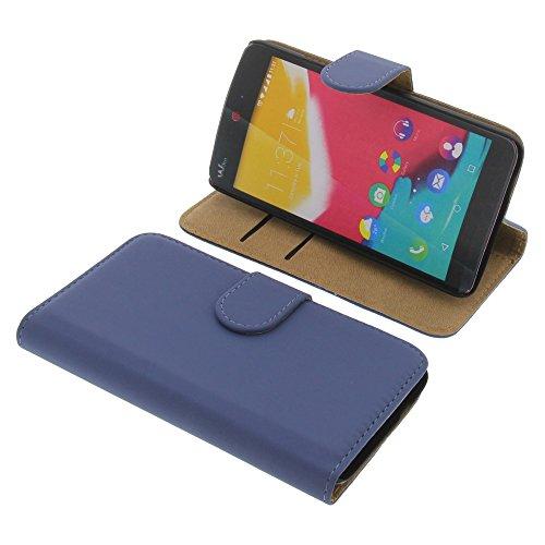 foto-kontor Tasche für Wiko Rainbow Jam (Nicht altes Rainbow) Book Style blau Kreditkarte Schutz Hülle Buch