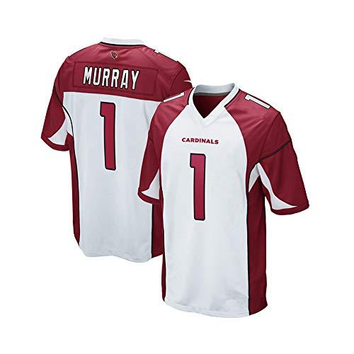 Rugby-Trikot Kyler Murray # 1 Arizona Cardinals American Football-Trikot, Unisex-Sport Kurzarm-Sweatshirt Fitness Atmungsaktive Stickerei Wiederholbare Reinigung White-M(175cm~180cm)