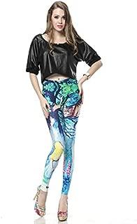 Pantalones De Yoga 3D Primavera Y Otoño Pantalones Cheshire Cat Leggings, XXL
