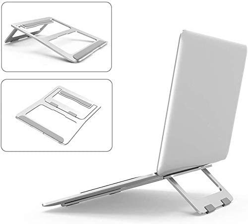 CHENNA Foldable Laptop Stand, Aluminum Alloy Heat Sink Base, Portable Laptop Holder Cooling Stand, Compatible with 10'-17' Notebook
