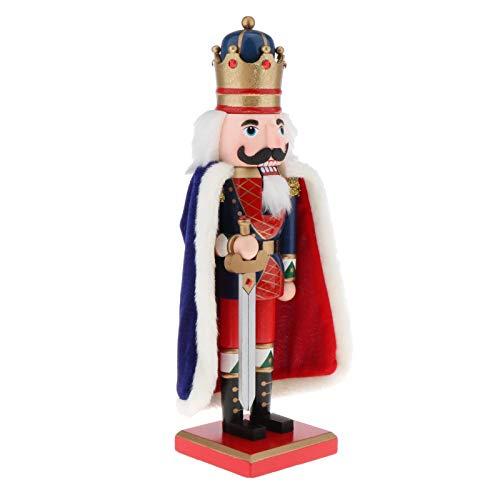 freneci 15' Nutcracker Doll & Christmas Xmas Home Party Decor Gift Collectible - Style 1, 15 inch