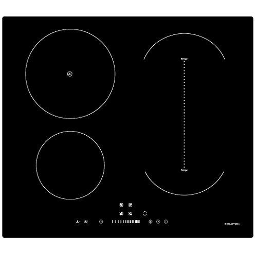 Cookology CIB605 Induction Hob   60cm, Black, Built-in, Bridge Zone