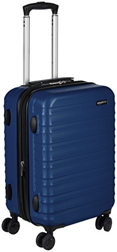 AmazonBasics Hardside Carry-On Spinner Suitcase Luggage - Expandable with Wheels - 21 Inch, Navy Blue