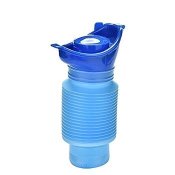Urinoir Portable D'urgence, 750ml Rétractable Enfants Unisexe Petit Pot Urine Toilettes Potty Bouteille Pliable pour Urgences Camping Randonnée Voiture Voyage Bébé Adultes Hommes Femme