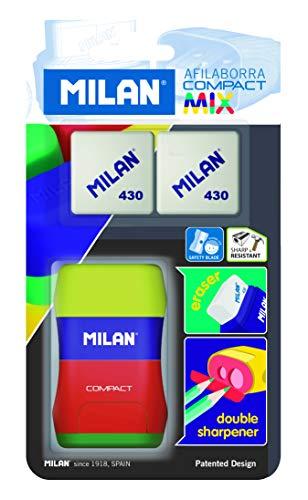 Sacapuntas con Deposito Milan y Goma Marca MILAN
