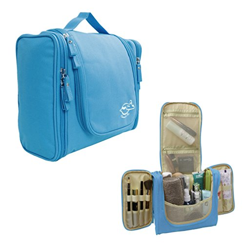 XRTKJ Unisexe Multifonction Trousse de Toilette (Sac à Maquillage) à Suspendre pour Maison / Tourisme / Camping (bleu)