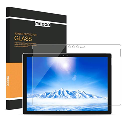 MEGOO Screen Protector for Surface Pro 6 12.3 Inch, Tempered Glass/Easy Installation/Anti-Scratch, Also Compatible for Microsoft Surface Pro 5 (2017) / Pro 4