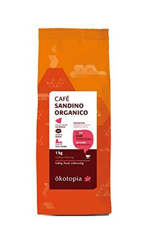 Ökotopia Café Sandino Organico Bohne kontrolliert biologischem Anbau, 1er Pack (1 x 1 kg)