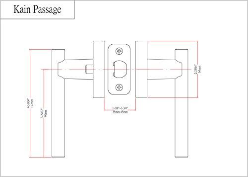 Designers Impressions Kain Design Contemporary Satin Nickel Passage Euro Door Lever Hardware (Hall and Closet)