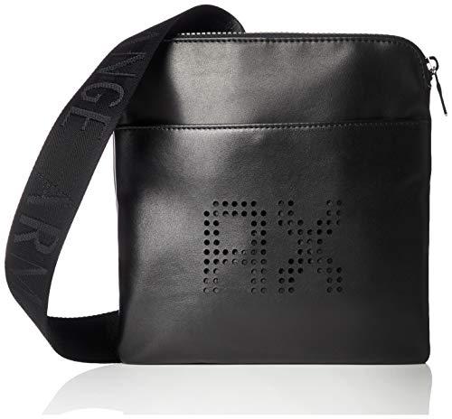 Armani Exchange Herren Perforated Leather Business Tasche, Schwarz (Black), 20x13x26 cm