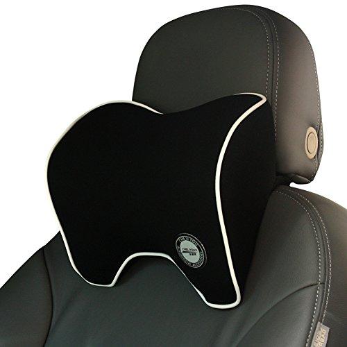 Nackenkissen Auto, Nackenstütze Kissen, Kopfstützen Nackenstützkissen Kopfkissen für Autositz mit Memory Foam – Schwarz