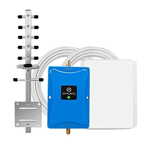Cell Phone Signal Booster for Home and Office - Band 4 Band 66 Cell Phone Signal Repeater Amplifier for Verizon AT&T 4G LTE - High Gain Panel/Yagi Antennas Extend Coverage Up to 4,500Sq Ft