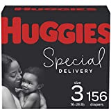 Huggies Special Delivery Hypoallergenic Baby Diapers Size 3, White, 156 Count