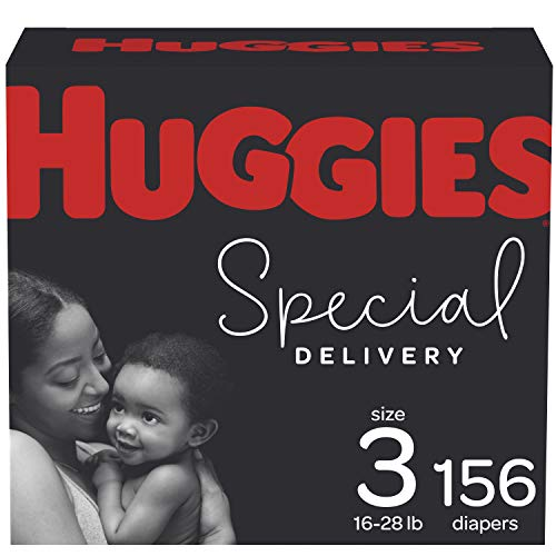 Diapers Size 3 - Huggies Special Delivery Hypoallergenic Disposable Baby Diapers, 156ct,...