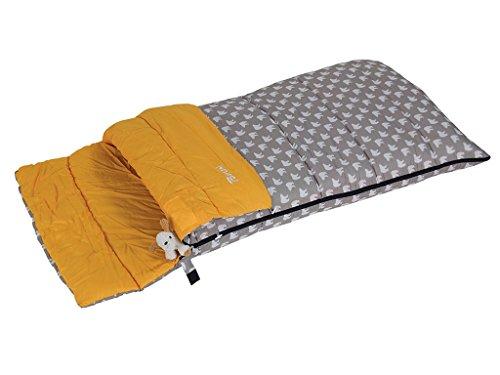 Bertoni Bimbo Junior 150 Bear Kinderschlafsack für Camping oder Zuhause, Grau/Eisbärmuster, Einheitsgröße