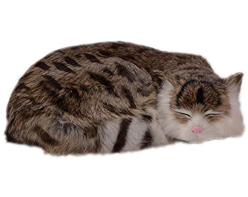 Somnus258 猫 置物 リアル かわいい 本物そっくり 眠り猫 子猫 ぬいぐるみ 模型 モデル 見本 ガーデン 庭 雑貨 ガーデニング 車 部屋 事務室 玄関 店舗 飾りもの プレゼント 贈り物 展示用 置き型 内装 アクセサリー 誕生日 女性
