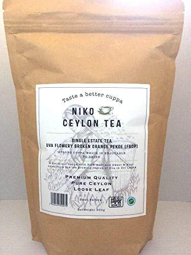 Stronger Cuppa - UVA Flowery Broken Orange Pekoe (FBOP) 500g Catering Pack (Single Estate Premium Ceylon Loose Leaf Black Tea) * Great Taste Awards Winner 2020