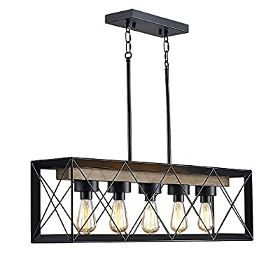 Farmhouse Chandelier – Dining Room Lighting Fixtures Hanging, Pendant Light Chandeliers for Dining Rooms, Farmhouse Kitchen Island Lighting