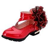 Zapatos Princesa niñas Zapatos Princesa niñas Bonita con Flor Zapatos Tacon niña Baile Latino...