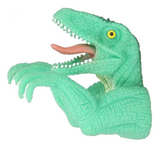 DinoWorld Dino Junior - Marioneta de dedo (7 x 5,5 cm), color verde