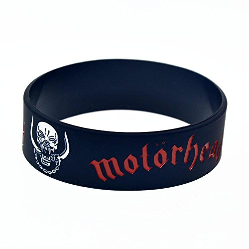 North King Silicone bracelet hand strap for British metal band with logo Motorhead British Metal Band on it