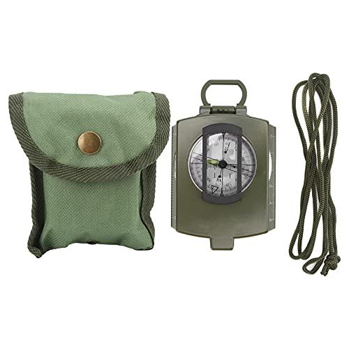 Brújula táctica de supervivencia, brújula de bolsillo portátil, brújula luminosa multifuncional, aleación de aluminio para senderismo, acampada(Army Green)