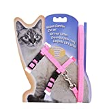 A/X Collar para Mascotas Arnés para Gatos Collar Correa de Nailon Ajustable Tracción para Mascotas Gatos Gatito Arnés para Mascotas Cinturón